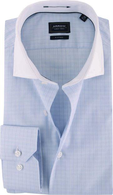Weiß Collar Hemd Arrow Blau