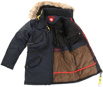 Detail Wellensteyn Rescue Parka Winterjas Donkerblauw