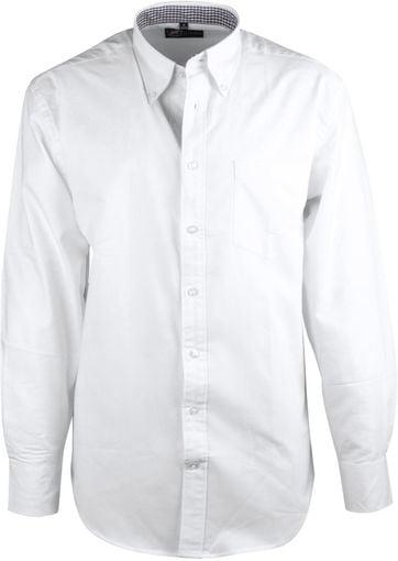 White Casual Shirt Oxford