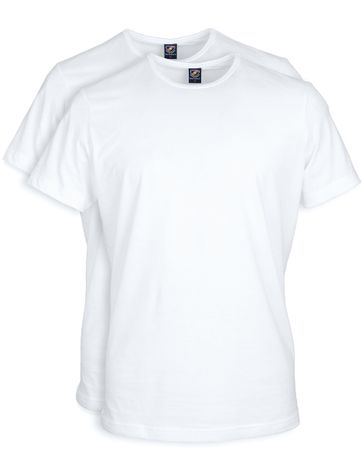 White T-shirt O-Neck 2-Pack