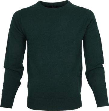 William Lockie Lambswool Mos Groen