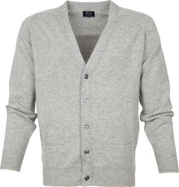 William Lockie Lammwolle Cardigan Grau