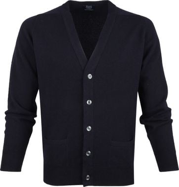 William Lockie Lamswol Vest Navy