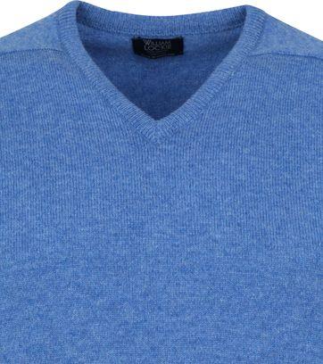 William Lockie V-Neck Lambswool Light Blue