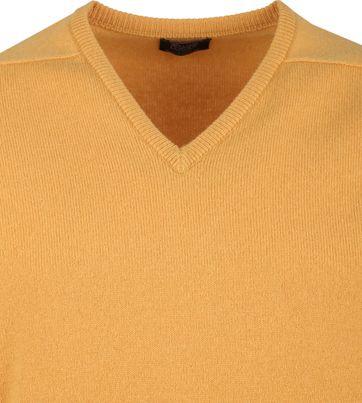 William Lockie V-Neck Lambswool Yellow