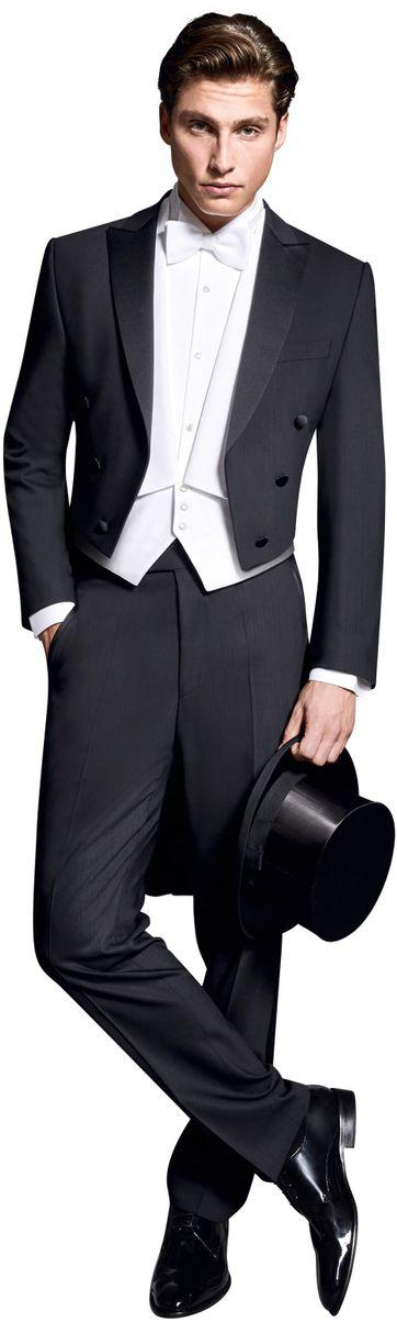 Wilvorst Tailcoat Black Wool