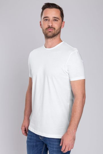 Wit T-Shirts 6Pack O-neck