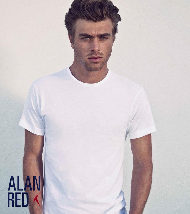 Alan Red Aanbieding Derby O-Hals T-shirts Wit (6Pack) foto 3