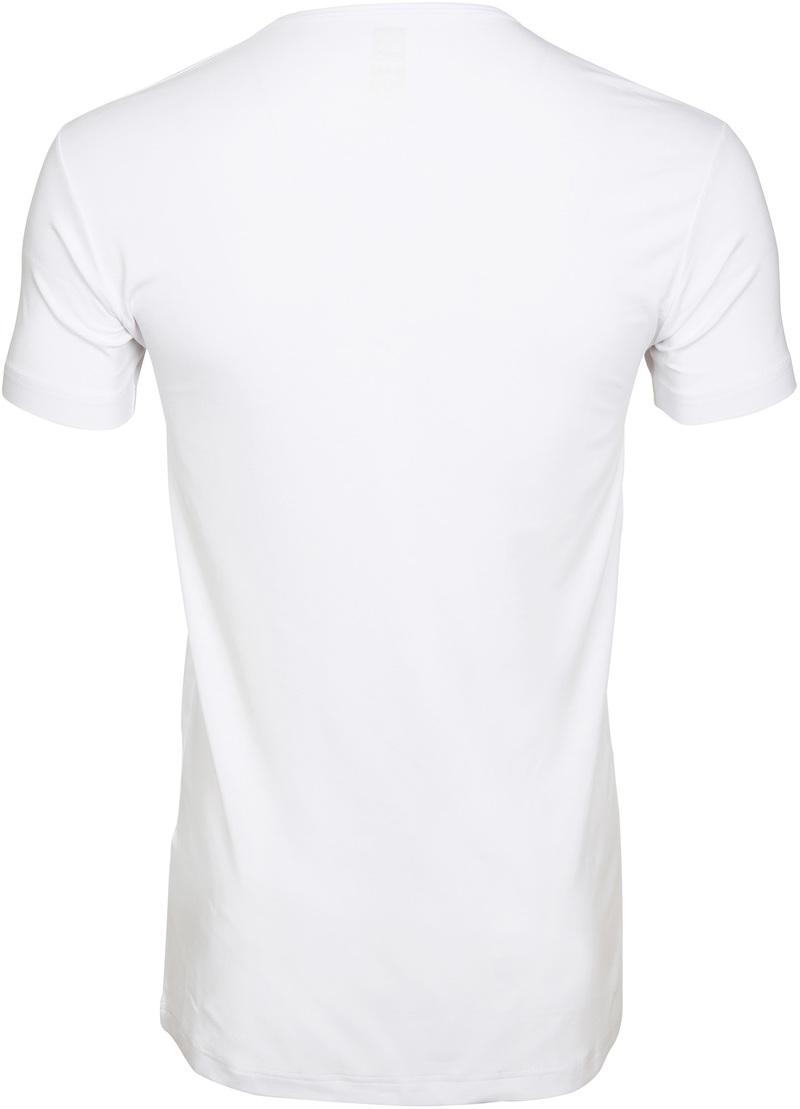 Alan Red Bamboo T-shirt O-Hals Wit foto 1