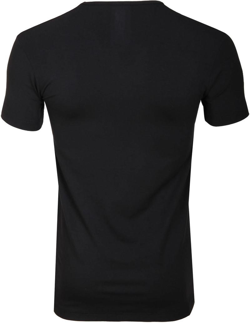 Alan Red Bamboo T-shirt Zwart foto 2