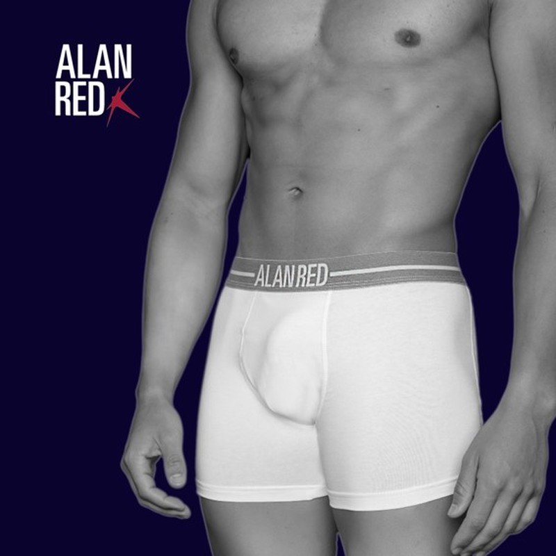 Alan Red Boxer Shirts White 2-Pack photo 3