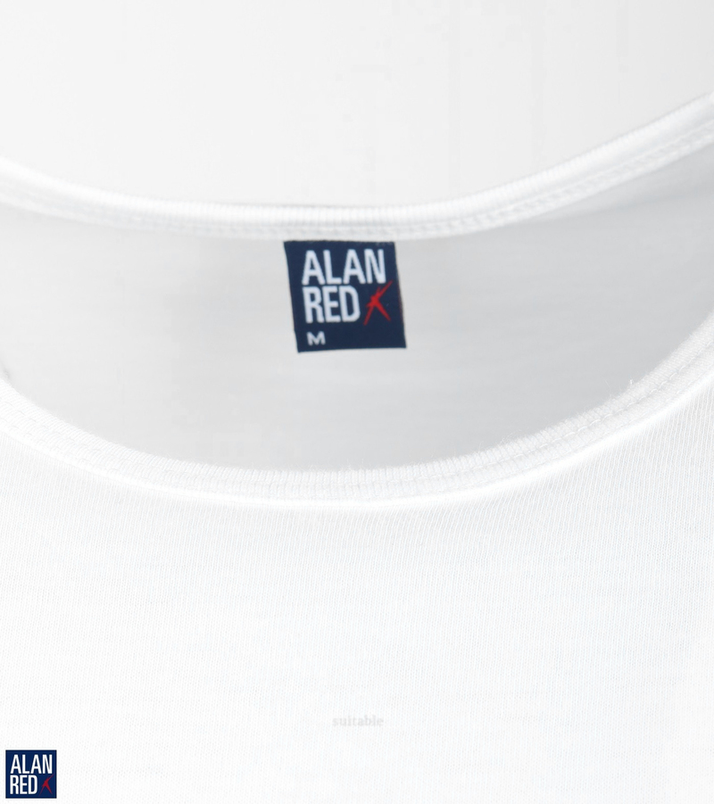 Alan Red Derby Extra Lange T-shirts Wit (2Pack) foto 1