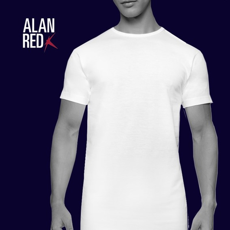 Alan Red Derby Extra Lange T-shirts Wit (2Pack) foto 5