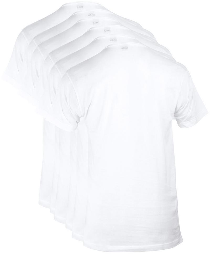 Alan Red Derby O-Hals T-Shirt Wit (6Pack) foto 1