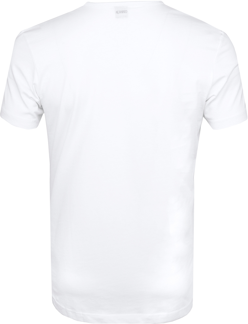 Alan Red Derby Round Neck T-shirt White 2-Pack photo 3