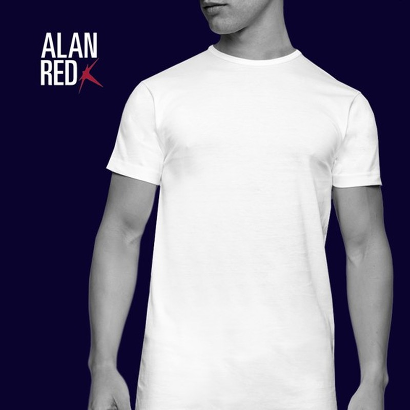 Alan Red Derby Round Neck T-shirt White 2-Pack photo 6