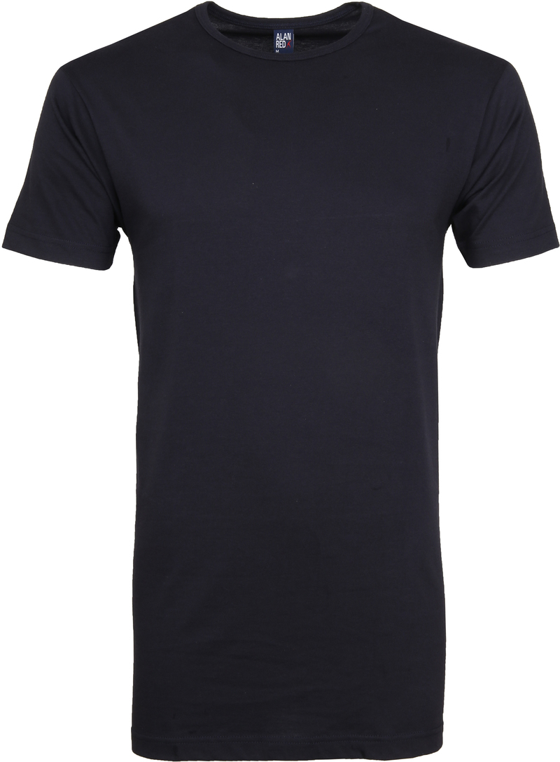 Alan Red Extra Lang T-Shirts Derby Navy (2-Pack) Foto 1