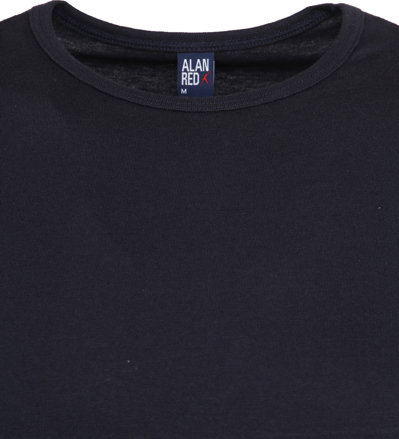 Alan Red Extra Lang T-Shirts Derby Navy (2-Pack) Foto 2