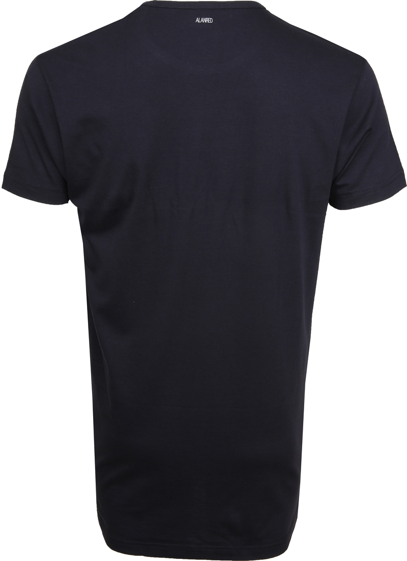 Alan Red Extra Lang T-Shirts Derby Navy (2-Pack) Foto 3