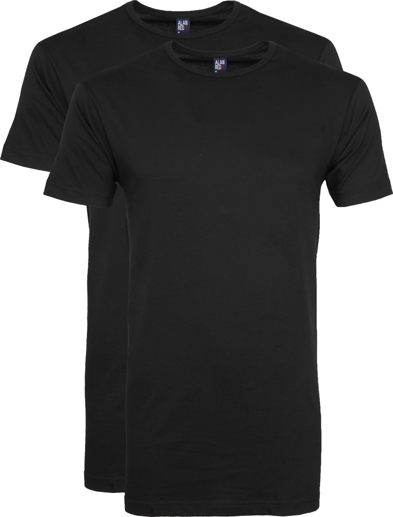 Alan Red Extra Long T-Shirts Derby Black (2-Pack) photo 0