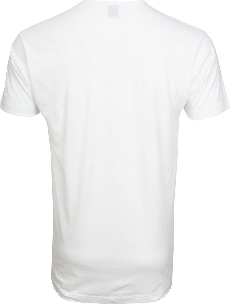Alan Red Mike T-shirt Logo Wit