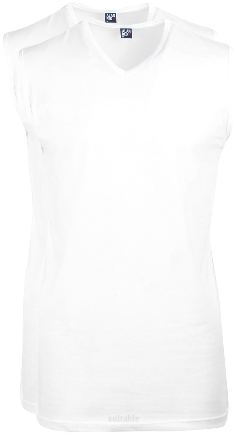 Alan Red Minto Singlet Mouwloos Wit (2Pack) foto 0