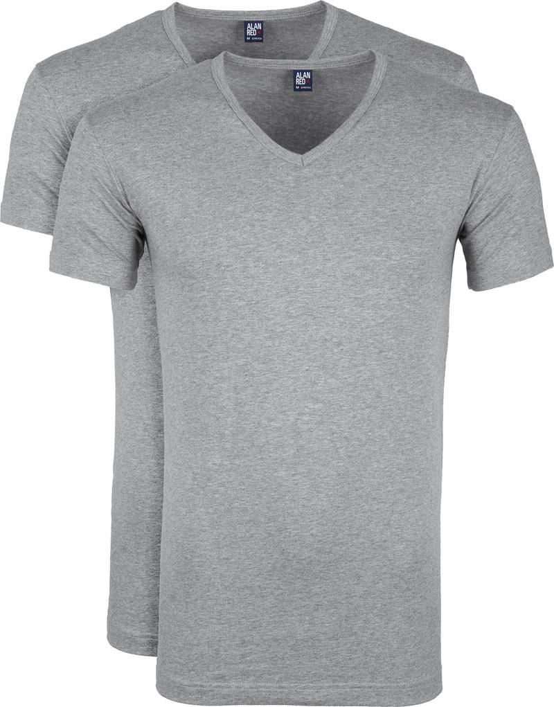 Alan Red Oklahoma T-shirt Stretch Grey 2-Pack photo 0