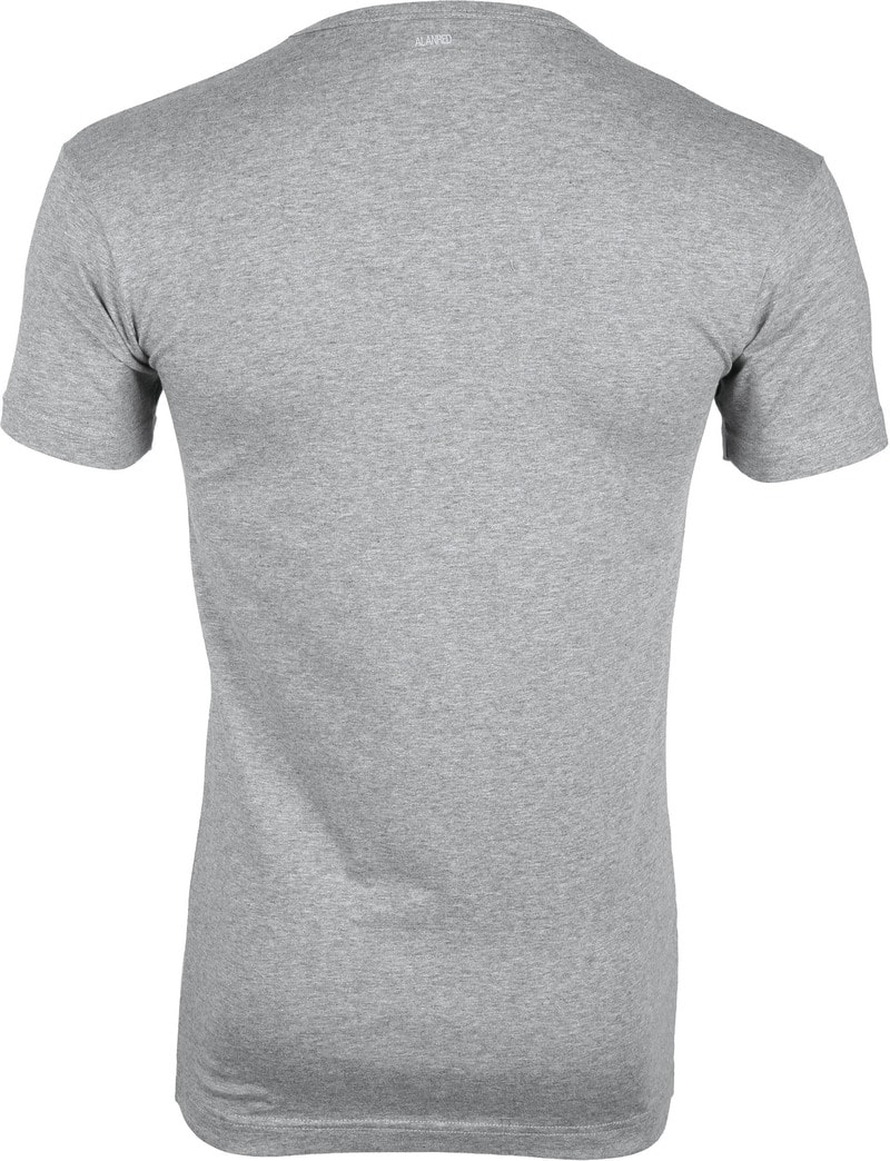 Alan Red Oklahoma T-shirt Stretch Grey 2-Pack photo 4