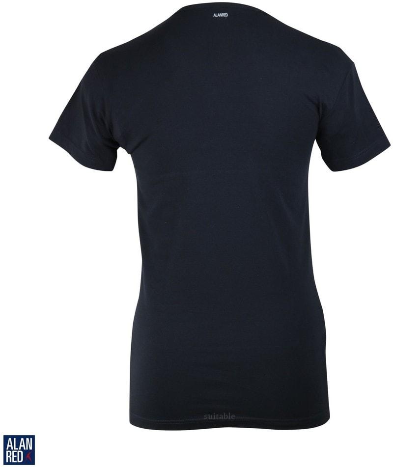 Detail Alan Red Oklahoma T-shirt Stretch Navy (1pack)