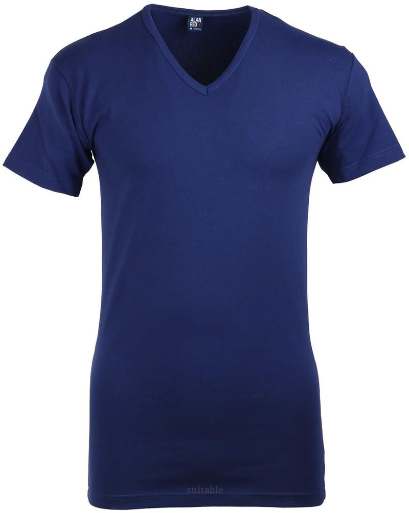 Detail Alan Red Oklahoma T-shirt Stretch Ultramarine (1pack)