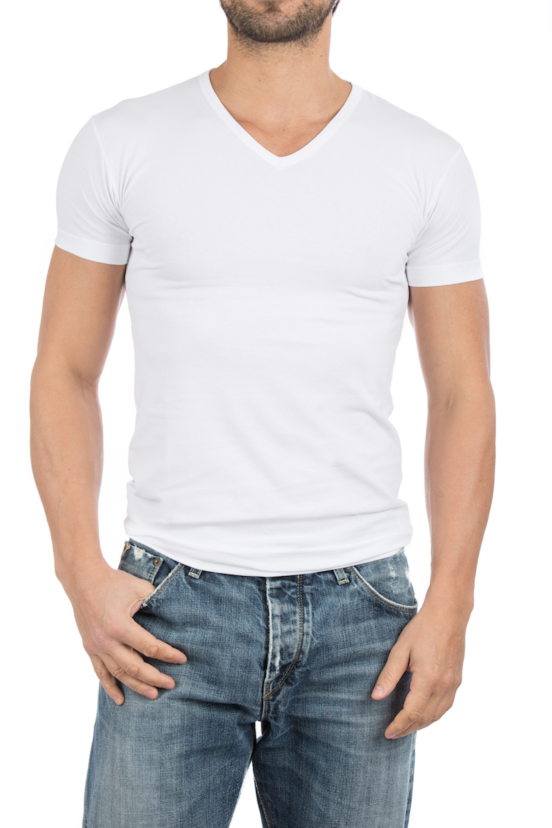 Alan Red Oklahoma T-shirt Stretch White 2-Pack photo 4