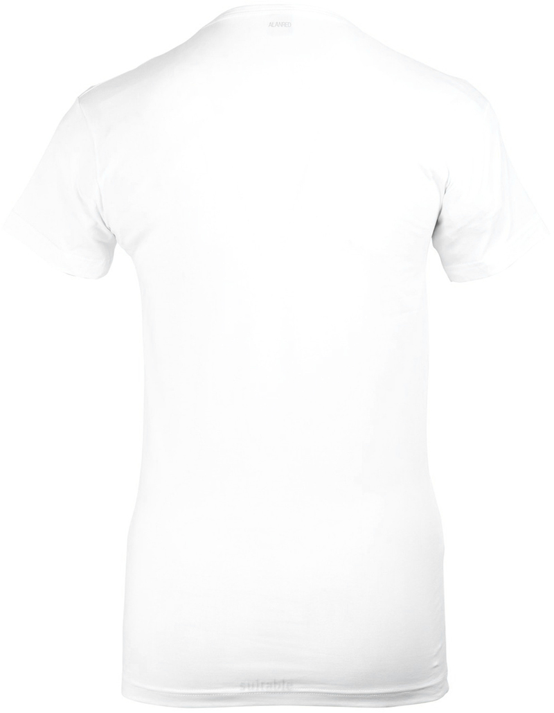Alan Red Oklahoma T-shirt Stretch White 2-Pack photo 3