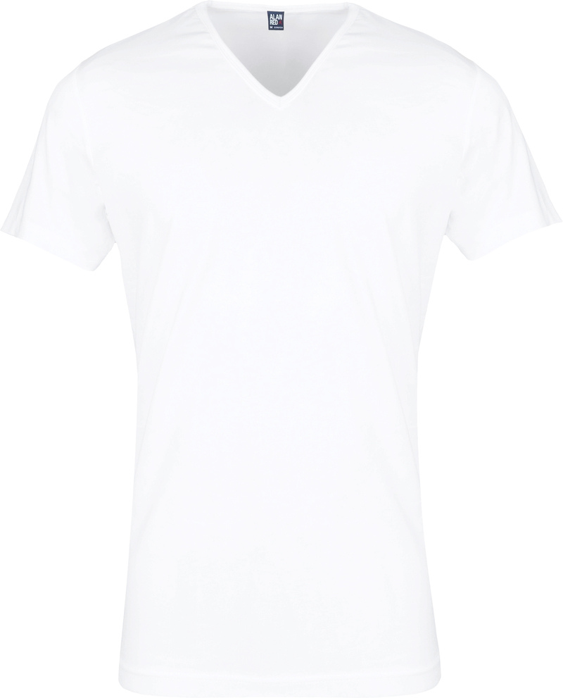 Alan Red Oklahoma T-shirt Stretch White 2-Pack photo 1