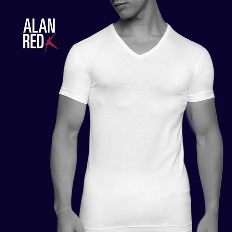 Alan Red Oklahoma T-shirt Stretch Wit (2pack) foto 5