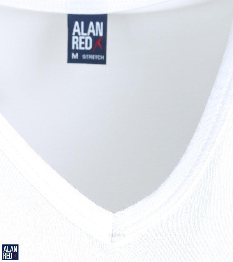 Detail Alan Red Oklahoma T-shirt Stretch Wit (2pack)