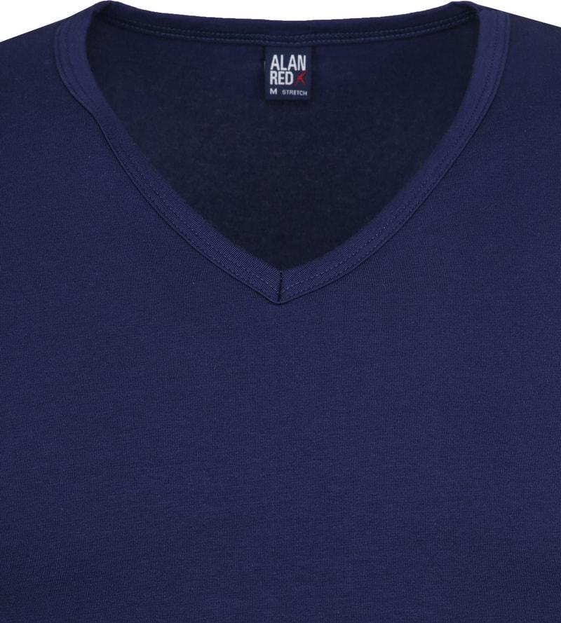 Alan Red Oklahoma V-Hals T-Shirt Blauw Stretch (2Pack) foto 2