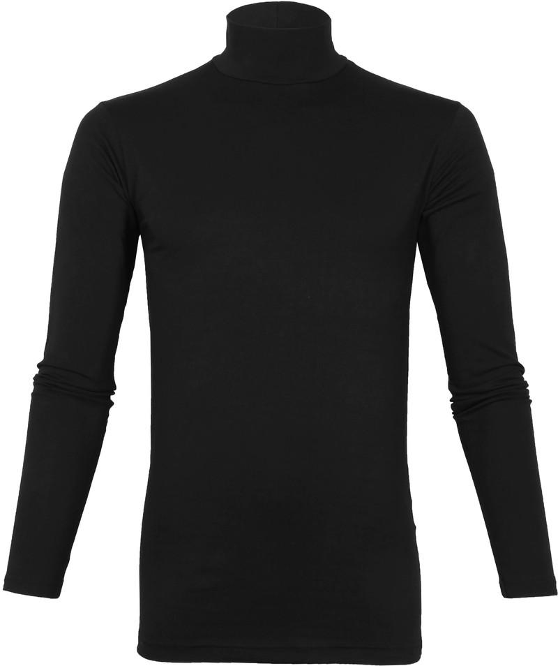 Alan Red Oster Col Longsleeve Shirt Zwart 2-Pack