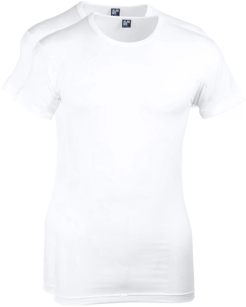 Alan Red Ottawa T-shirt Stretch White 2-Pack photo 0