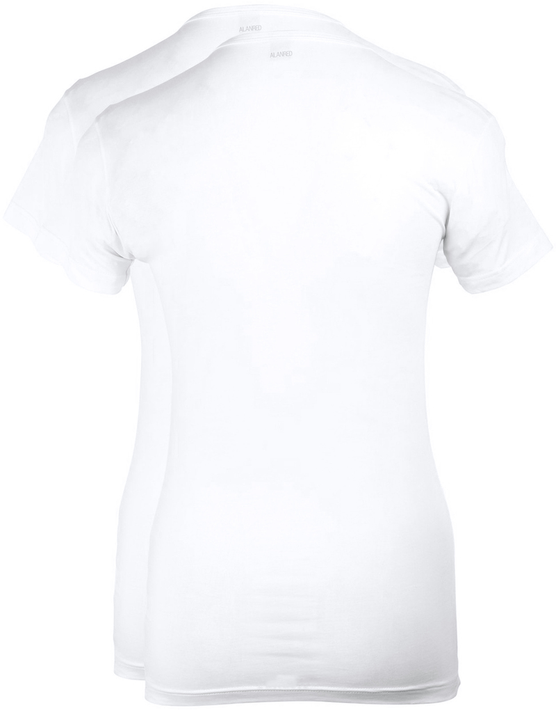 Alan Red Ottawa T-shirt Stretch White 2-Pack