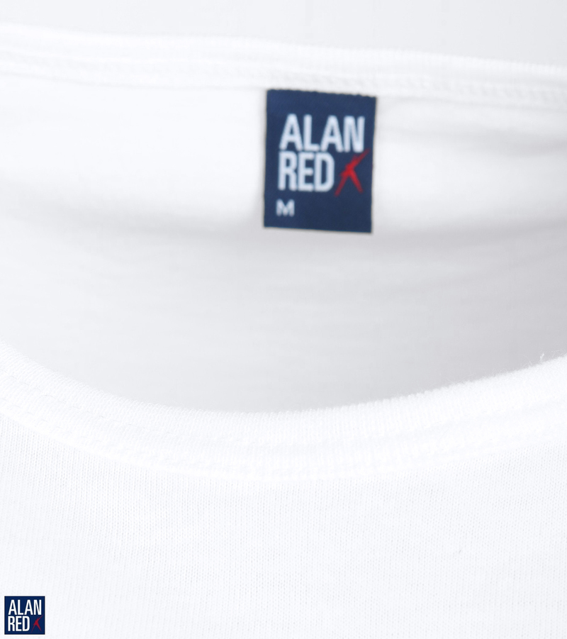 Alan Red T-Montana Singlet Mouwloos Wit (2-Pack) foto 1