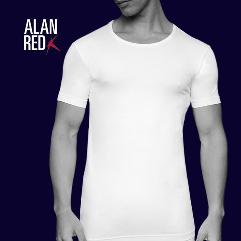 Alan Red T-Shirt Extra Brede O-Hals Stretch foto 4