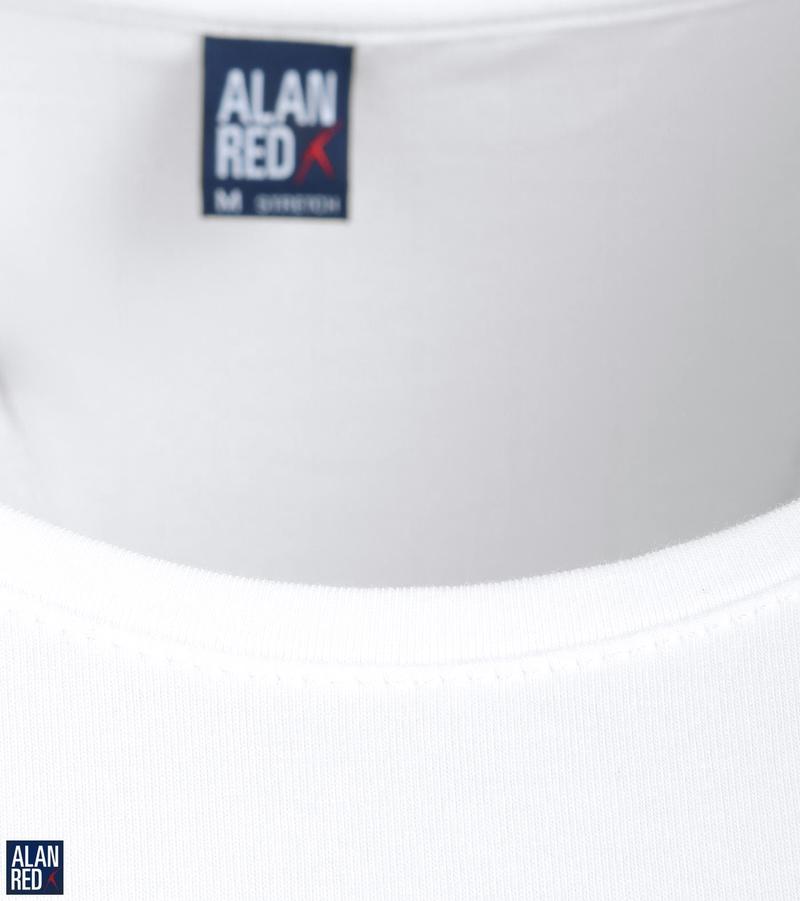 Alan Red T-Shirt Extra Brede O-Hals Stretch foto 1