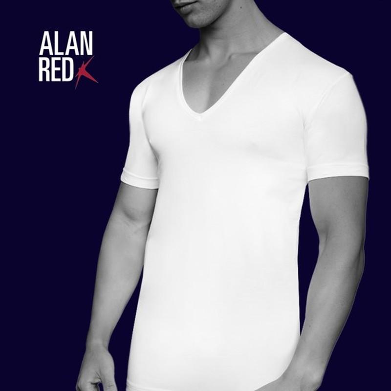 Alan Red T-Shirt Extra Diepe V-Hals Stretch foto 4
