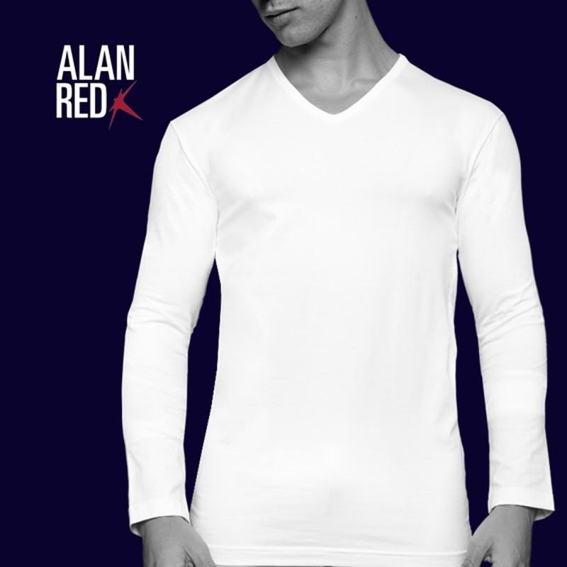 Alan Red T-shirt Oslo V Neck Longsleeve  photo 3