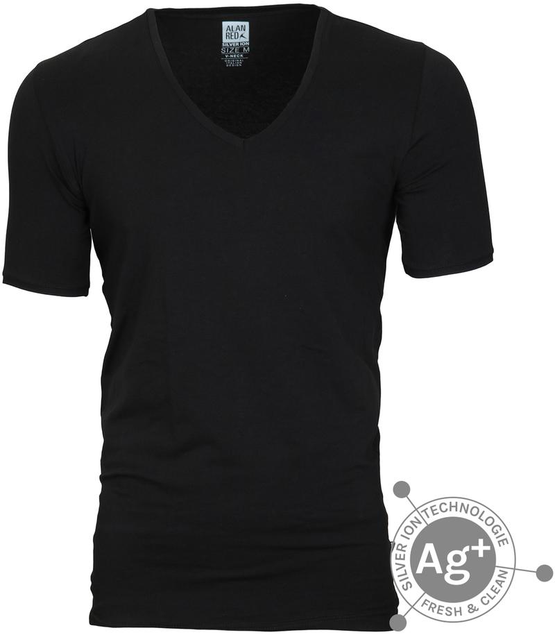 Alan Red T-shirt Oxford Zwart