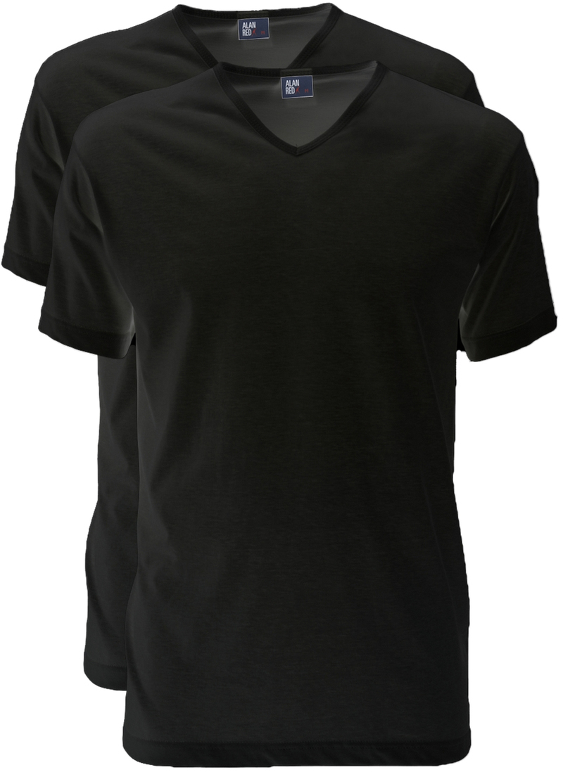 Alan Red T-Shirt V-Hals Vermont Zwart (2pack) foto 0