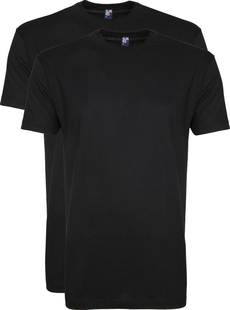 Alan Red T-Shirt Virginia Zwart (2 pack) foto 0