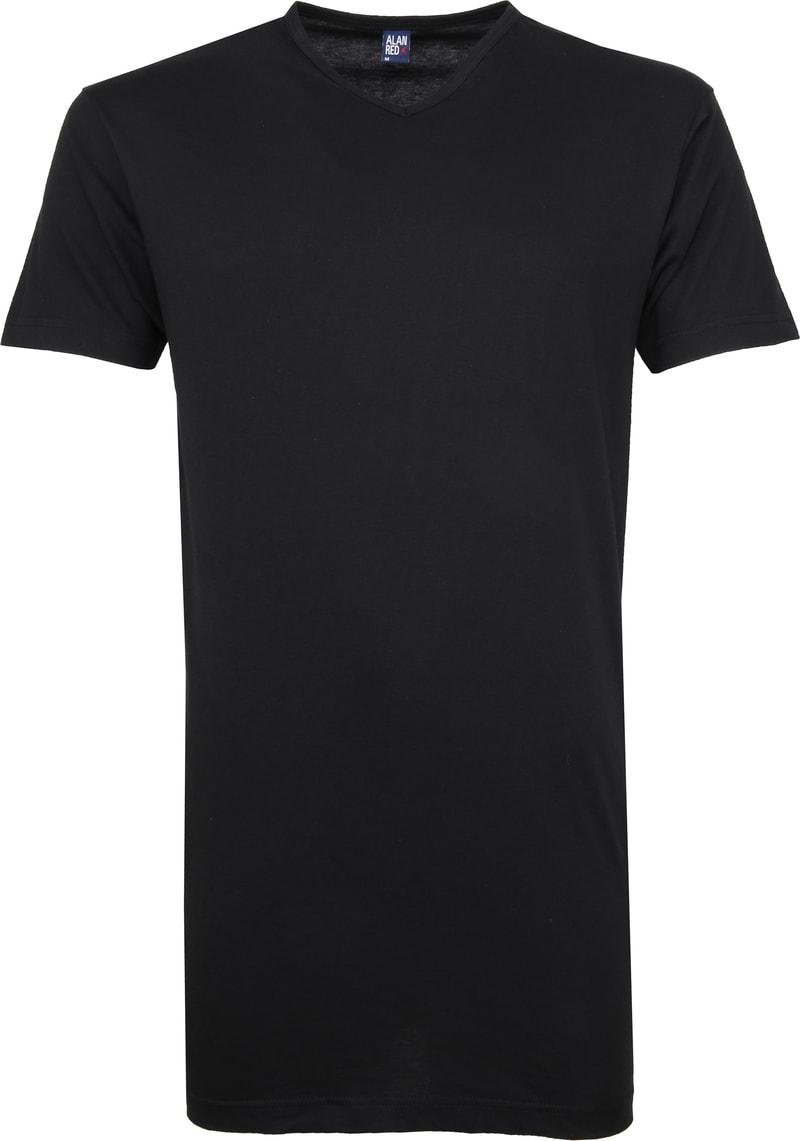 Alan Red Vermont Extra Lang V-Hals T-Shirt Zwart 2Pack