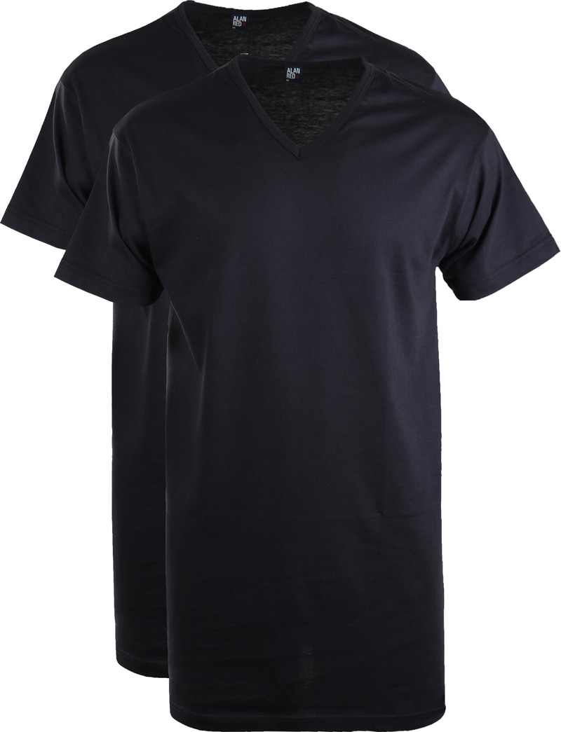 Alan Red Vermont Extra Long T-shirts Navy 2-Pack photo 0
