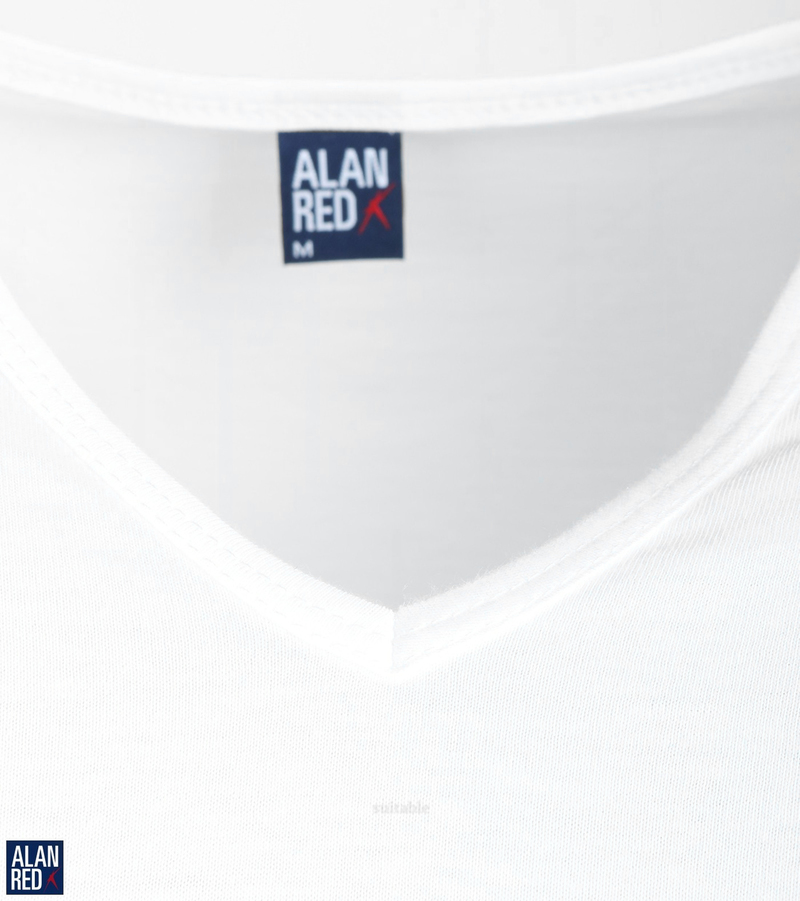 Alan Red Vermont Extra Long T-shirts White 2-Pack